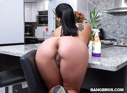 Juicy Thick Latina Cleaned My House And Cock  [SD]