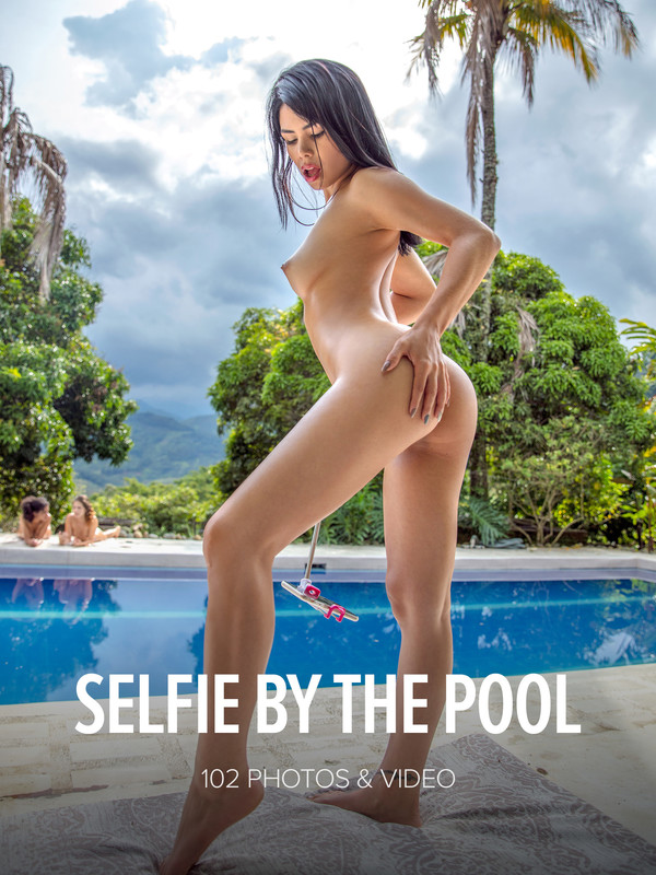 Ana Henao - Selfie By The Pool (2019-04-13)
