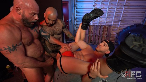 RawFuckClub - Alessio Vega vs Three Muscle Daddies Bareback