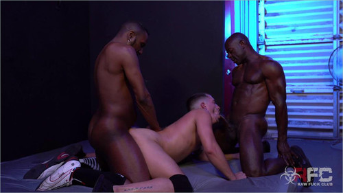 RawFuckClub - Shawn Andrews Spit Roast and DP (Shawn Andrews, Aaron Trainer & JD Daniel) Bareback