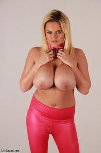 Katie Thornton - Pink Leather Bondage