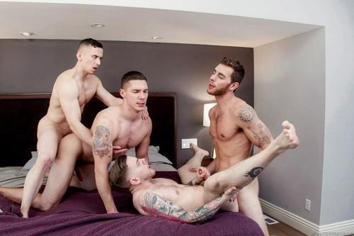NextDoorBuddies - Brotherly Order (Dante Martin, Spencer Laval, Carter Woods & Steve Rickz) Bareback