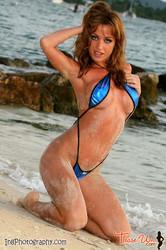 Angela Sommers Blue Crisscross Slingshot 53 pics