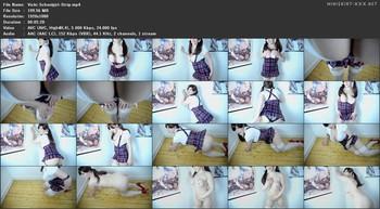 Vicki Valkyrie - Schoolgirl Strip, FHD
