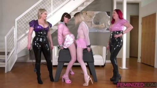 Feminized Natalie Mars, Ella Hollywood, Mz Berlin, Lexi Sindel - The New Girl