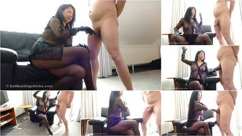 Mistress Kawa - Extreme Hard Cock Beating With Leather Gloves! [FullHD 1080P]