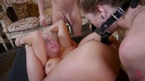 Spoiled Mommy Teen Anally Degraded and Double Penetrated