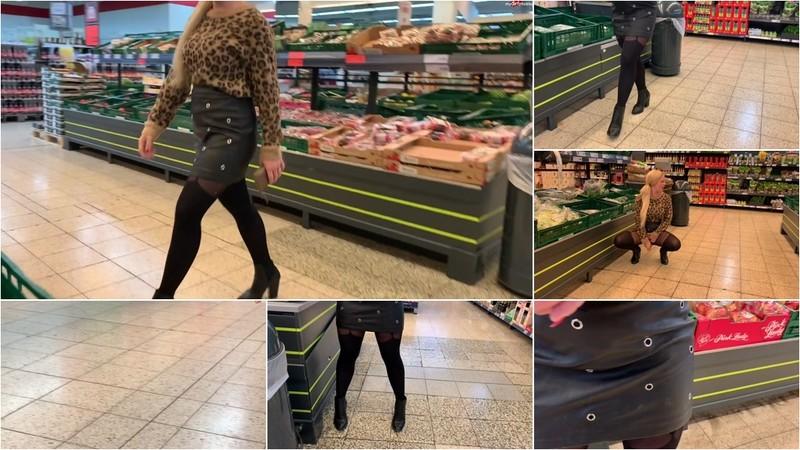 devil-sophie - Public im Einkaufsladen - Gurke und Moehren eingefuehrt upsi ich lass es [FullHD 1080P]