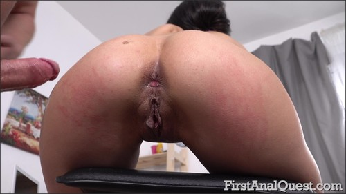 Polina Sweet - Skinny Russian brunette Polina Sweet gets her first gaping anal! [FullHD/1080p]